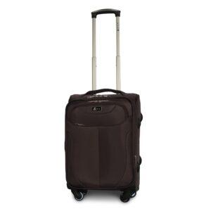 Маленький чемодан (S) Fly 1807-4k   тканевый   коричневый   54х37х24(+5) см   37/45 л   3,25 кг
