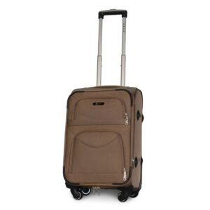 Маленький чемодан (S) Fly 6802-4k   тканевый   бежевый   54х37х24(+5) см   37/45 л   3,25 кг