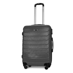 Средний чемодан (M) Fly 1107 | пластиковый | темно-серый | 64x44x26 см | 62 л | 3,15 кг