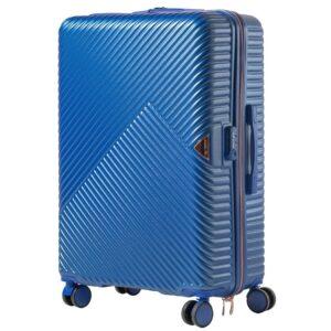 Большой чемодан (L) Wings WN01 | ABS + поликарбонат | синий | 74x50x29 см | 86 л | 3,95 кг