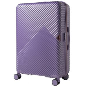 Большой чемодан (L) на 4 колесах | Wings WN01 | ABS + поликарбонат