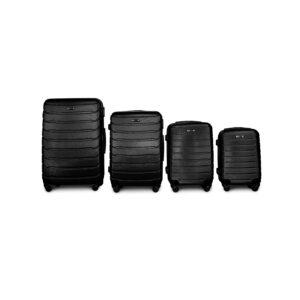 Комплект чемоданов Fly 1107 | пластиковый | черный