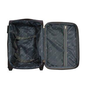 Маленький чемодан (S) на 2 колесах | Fly 8279-2k | тканевый | для ручной клади