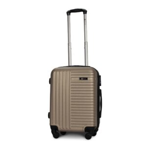 Маленький чемодан (S) Fly 1096 | пластиковый | шампань | 55x40x20 см | 35 л | 2,6 кг