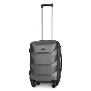 Маленький чемодан (S) Fly 147 | пластиковый | темно-серый | 55x40x20 см | 35 л | 2,6 кг