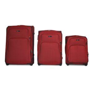 Комплект чемоданов Fly 8049-2k | тканевый | бордовый