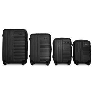 Комплект чемоданов Fly 1096 | пластиковый | черный