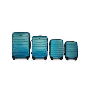 Комплект чемоданов Fly 1107 | пластиковый | синий