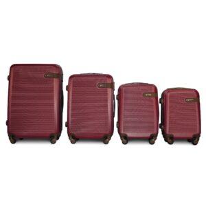 Комплект чемоданов Fly 1101 | пластиковый | бордовый