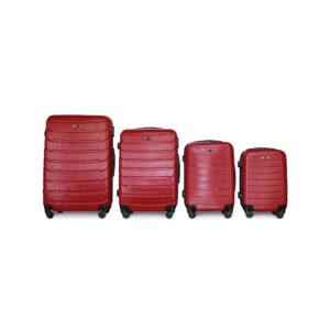 Комплект чемоданов Fly 1107 | пластиковый | бордовый