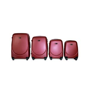 Комплект чемоданов Fly 310 | пластиковый | бордовый