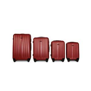 Комплект чемоданов Fly 614 | пластиковый | бордовый