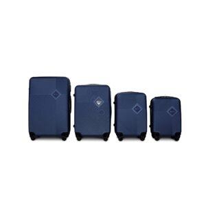 Комплект чемоданов Fly 2130 | пластиковый | темно-синий