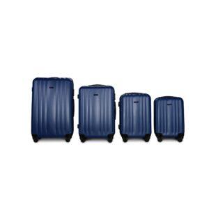 Комплект чемоданов Fly 614 | пластиковый | темно-синий