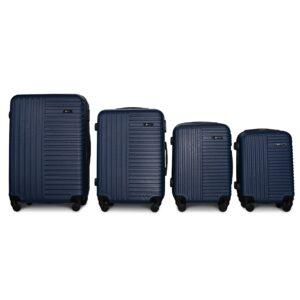 Комплект чемоданов Fly 1096 | пластиковый | темно-синий