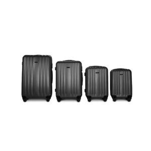 Комплект чемоданов Fly 614 | пластиковый | темно-серый