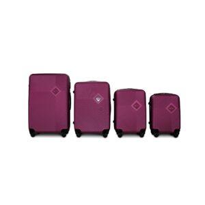 Комплект чемоданов Fly 2130 | пластиковый | темно-фиолетовый
