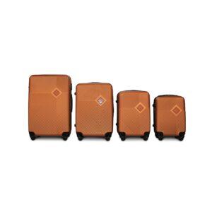 Комплект чемоданов Fly 2130 | пластиковый | оранжевый