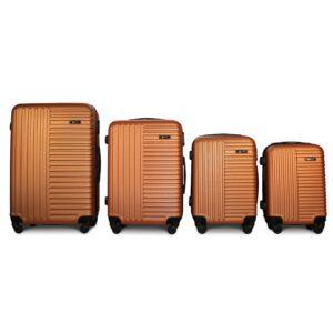 Комплект чемоданов Fly 1096 | пластиковый | оранжевый