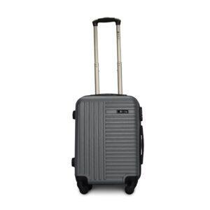 Комплект чемоданов Fly 1096 | пластиковый | темно-серый