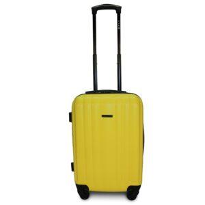 Комплект чемоданов Fly 614 | пластиковый | желтый