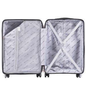 Маленький чемодан (S) Wings PP07 | полипропилен | коричневый | 55x40x20 см | 35 л | 2,6 кг