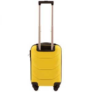 Мини чемодан (XS) Wings 147 | пластиковый | желтый | 50x32x18 см | 27 л | 2,4 кг
