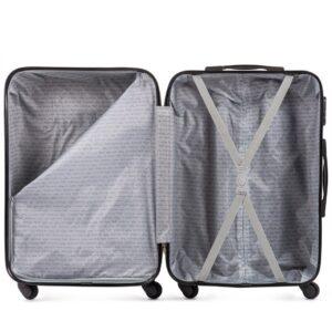 Средний чемодан (M) на 4 колесах | Wings 147 | пластиковый