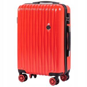Маленький чемодан (S) Wings 5223 | поликарбонат | красный | 55x40x20 см | 35 л | 2,6 кг