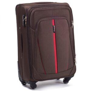 Большой чемодан (L) Wings 1706-4k | тканевый | коричневый | 74х48х32(+5) см | 88/104 л | 4,25 кг