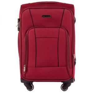 Маленький чемодан (S) Wings 1609-4k | тканевый | бордовый | 54х37х24(+5) см | 37/45 л | 3,25 кг