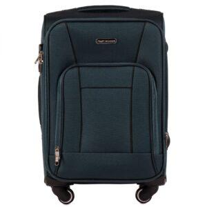 Маленький чемодан (S) Wings 1609-4k | тканевый | темно-зеленый | 54х37х24(+5) см | 37/45 л | 3,25 кг