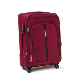 Маленький чемодан (S) Wings 1706-2k | тканевый | бордовый | 52х36х23(+5) см | 37/45 л | 3,05 кг