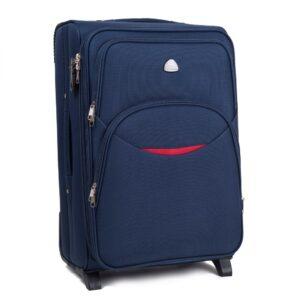 Маленький чемодан (S) Wings 1708-2k | тканевый | темно-синий | 52х36х23(+5) см | 37/45 л | 3,05 кг