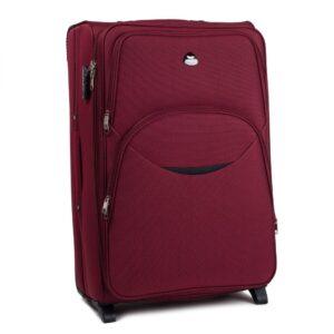 Маленький чемодан (S) Wings 1708-2k | тканевый | бордовый | 52х36х23(+5) см | 37/45 л | 3,05 кг
