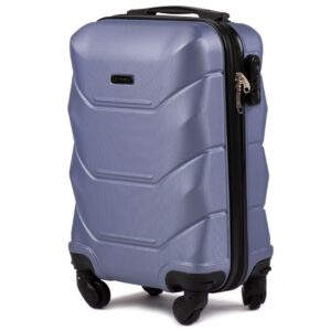 Маленький чемодан (S) Wings 147 | пластиковый | серебристо-фиолетовый | 55x40x20 см | 35 л | 2,6 кг