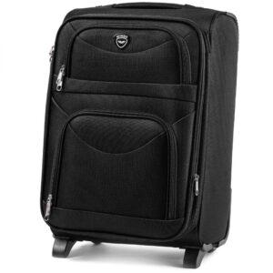 Маленький чемодан (S) на 2 колесах | Wings 6802-2k | тканевый | для ручной клади