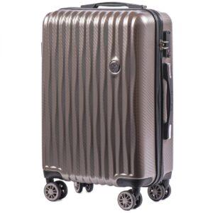 Маленький чемодан (S) Wings 5223 | поликарбонат | бронзовый | 55x40x20 см | 35 л | 2,6 кг