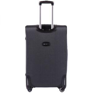 Большой чемодан (L) Wings 214-4k | тканевый | темно-серый | 74х48х32(+5) см | 88/104 л | 4,25 кг