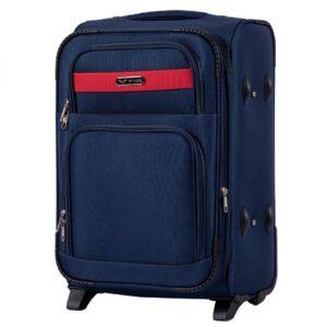 Маленький чемодан (S) Wings 1605-2k | тканевый | темно-синий | 52х36х23(+5) см | 37/45 л | 3,05 кг