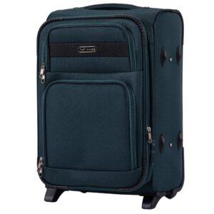 Маленький чемодан (S) Wings 1605-2k | тканевый | темно-зеленый | 52х36х23(+5) см | 37/45 л | 3,05 кг