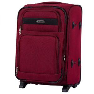 Маленький чемодан (S) Wings 1605-2k | тканевый | бордовый | 52х36х23(+5) см | 37/45 л | 3,05 кг