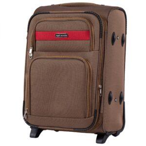 Маленький чемодан (S) Wings 1605-2k | тканевый | бежевый | 52х36х23(+5) см | 37/45 л | 3,05 кг