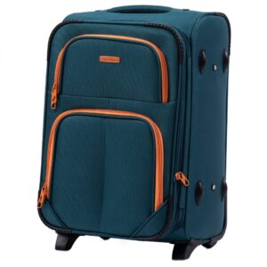 Маленький чемодан (S) Wings 214-2k | тканевый | темно-зеленый | 52х36х23(+5) см | 37/45 л | 3,05 кг