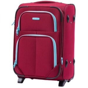 Маленький чемодан (S) Wings 214-2k | тканевый | бордовый | 52х36х23(+5) см | 37/45 л | 3,05 кг