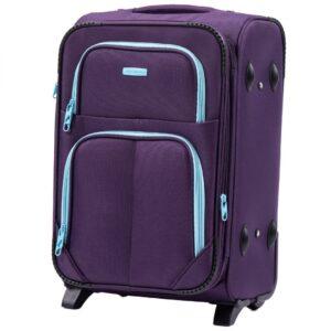Маленький чемодан (S) Wings 214-2k | тканевый | фиолетовый | 52х36х23(+5) см | 37/45 л | 3,05 кг
