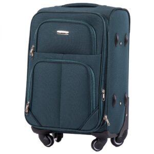 Маленький чемодан (S) Wings 214-4k | тканевый | темно-зеленый | 54х37х24(+5) см | 37/45 л | 3,25 кг