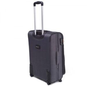 Маленький чемодан (S) Wings 1708-2k | тканевый | темно-серый | 52х36х23(+5) см | 37/45 л | 3,05 кг