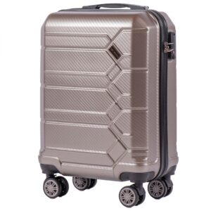 Маленький чемодан (S) Wings 185 | поликарбонат | бронзовый | 55x40x20 см | 35 л | 2,6 кг