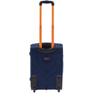Маленький чемодан (S) Wings 214-2k | тканевый | темно-синий | 52х36х23(+5) см | 37/45 л | 3,05 кг